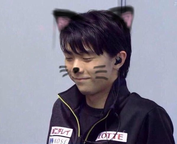 羽生結弦の猫耳